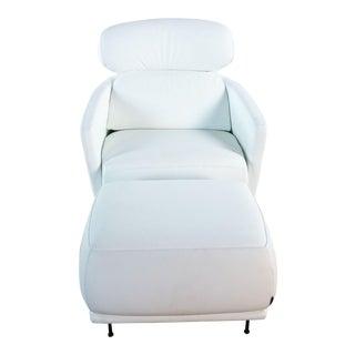 Ligne-Roset Okura High Back Chair & Ottoman For Sale
