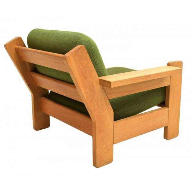 Danish Modern Beechwood Living Room 4-piece Set with Leather Straps, Circa 1970 - Image 5 of 8