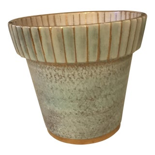 Stangl Antique Gold Flower Pot