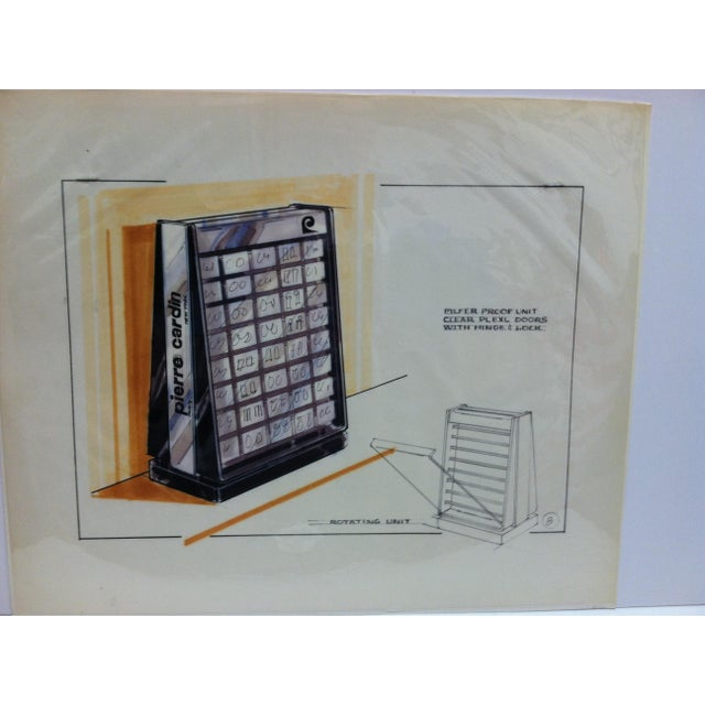 """This is an Original Drawing of Advertising Art that is titled """"Pierre Cardin - Paris - New York"""". The Drawing is from..."""