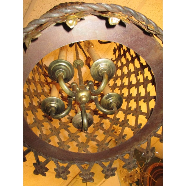 Tole Lantern in Cylinder Style For Sale - Image 5 of 7