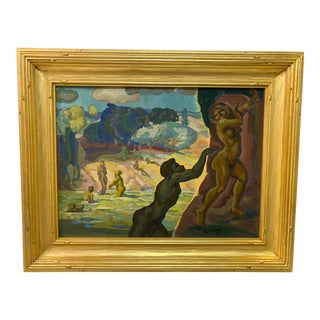 1931 Leonard Good Original Oil Painting For Sale