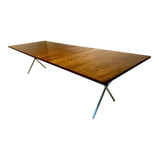 1950s, Mid-Century Modern Early George Nelson for Herman Miller Rosewood X-Leg Dining Table With Leaves For Sale