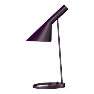 Arne Jacobsen 'Aj Mini' Table Lamp in Aubergine for Louis Poulsen For Sale