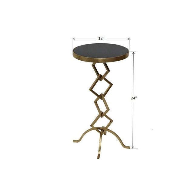 Flynn Contemporary Granite Top Side Table For Sale In Dallas - Image 6 of 6