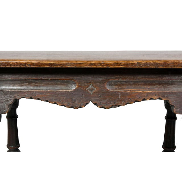 Jacobean Style Oak Bench For Sale - Image 4 of 10