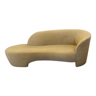 1980s Vintage Contemporary Modern Kagan for Weiman Preview Serpentine Sculptural Sofa Chaise For Sale