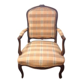 Carved French Style Bergere Chair
