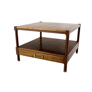 Pair of Mid-Century Modern Walnut End Tables or Stands by Henredon For Sale