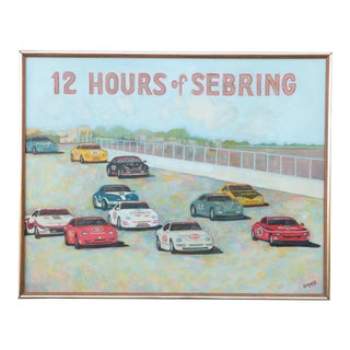 12 Hours of Sebring Endurance Race Car Painting For Sale