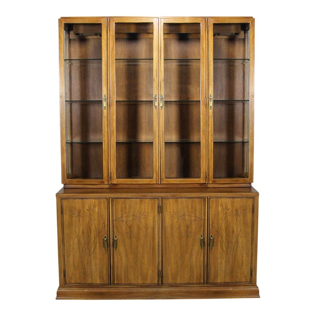 Davis Cabinet Company Lighted Display Cabinet For Sale