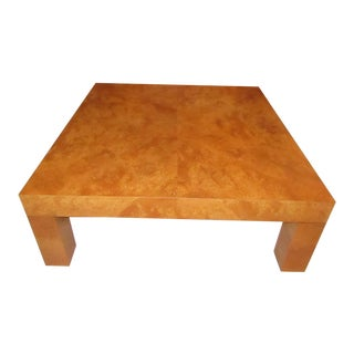 Contemporary Style Burlwood Coffee Table