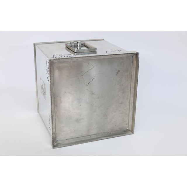 Metal Pommery Cuvee Louise Square Champagne Cooler For Sale - Image 7 of 9