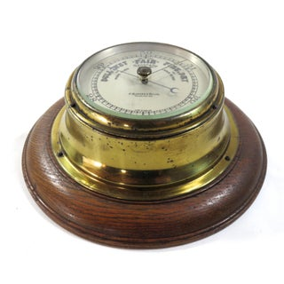 Antique Oak and Brass Wall Barometer Preview