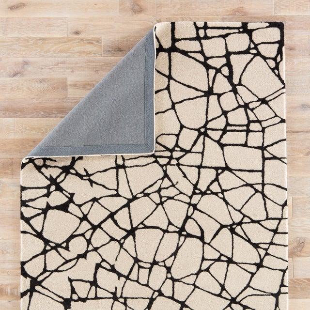 Nikki Chu by Jaipur Living Chandler Handmade Abstract Cream/ Black Area Rug - 8' X 10' For Sale - Image 4 of 6