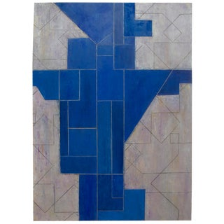 Stephen Cimini Modern Series Abstract Geometric Oil Painting For Sale