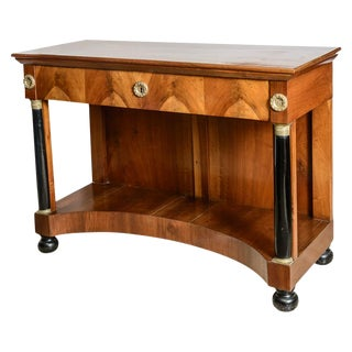 Italian Empire Walnut Console For Sale