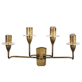 1930s French Art Deco Sconce For Sale