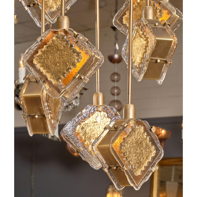 Murano Glass Gold and Bronze Chandelier For Sale - Image 4 of 13
