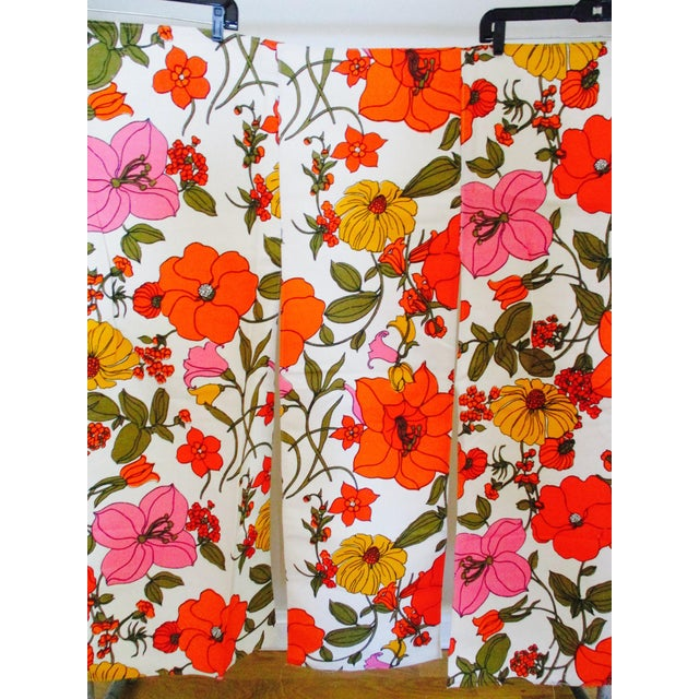 Vintage Swedish Flower Wall Panels Curtains Textile - Set of 4 - Image 10 of 10