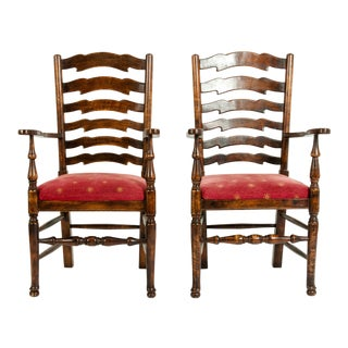 Mid-20th Century Provincial Mahogany Side Armchairs - a Pair For Sale