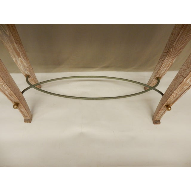 French Art Deco Cerused Oak Console For Sale - Image 4 of 7