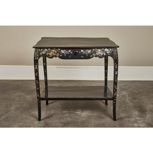 Late 19th Century 19th Century French Colonial Mother of Pearl Table For Sale - Image 5 of 10