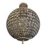 Image of Visual Comfort Renwick Crystal Sphere Pendant Light For Sale