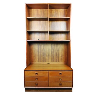 Danish Modern Erik Brouer for Brouer Mobelfabrik Teak Wall Unit For Sale