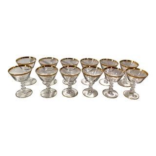 Vintage Tiffin Crystal Stemware Champagne Coupes - Set of 12 For Sale