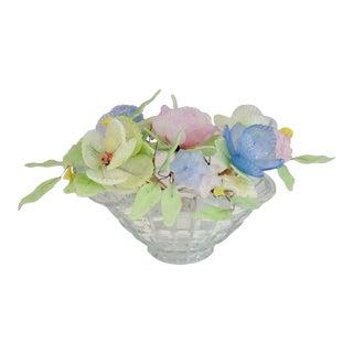 Antique Early 20th Century Venetian Art Glass Flower Arrangement For Sale