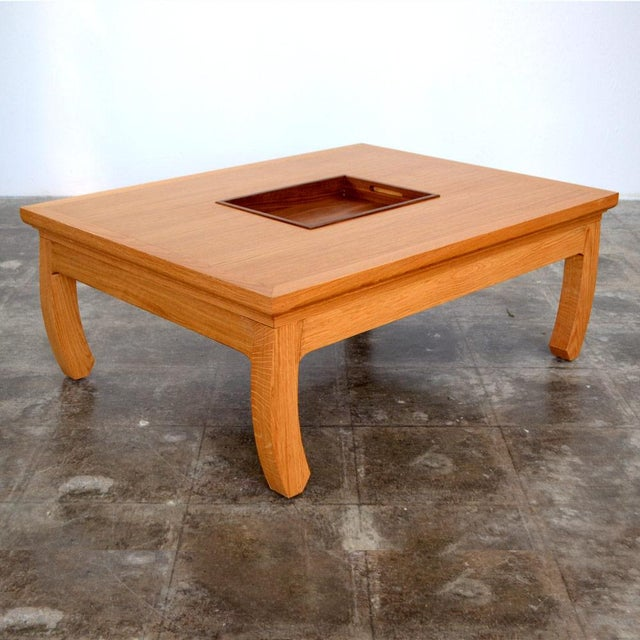 Solid Oak Mandarin Cocktail Table - Image 3 of 4