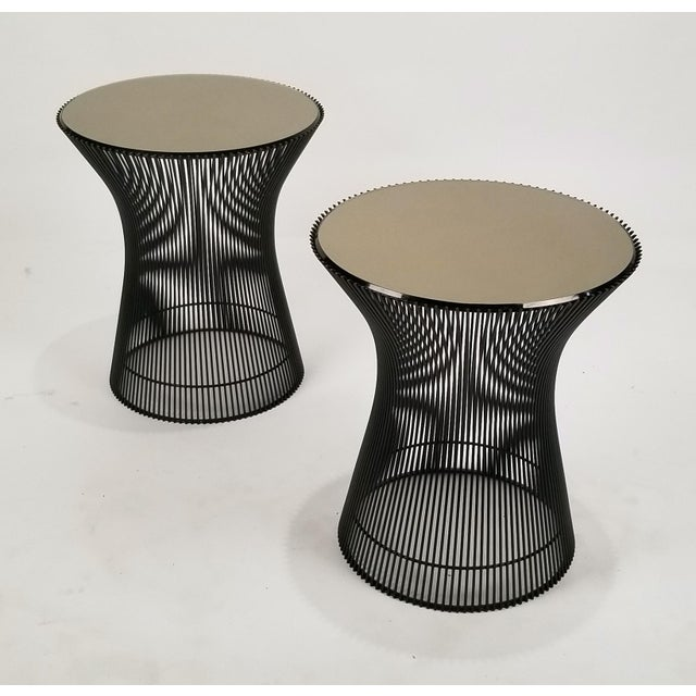 Early Bronze Side Tables by Warren Platner for Knoll, 1966 - a Pair For Sale - Image 9 of 9