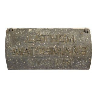 Vintage Lathem Watchmans Station Box For Sale
