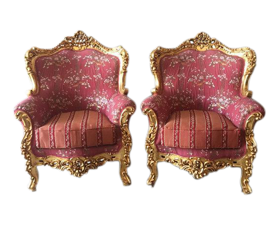Baroque Style Chairs   Pair