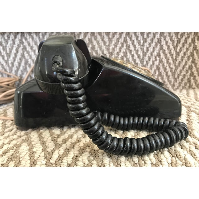 1950s Western Electric 500 Mid-Century Black Rotary Phone For Sale - Image 5 of 10