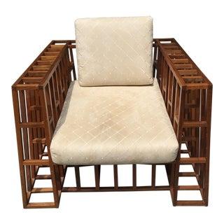 Muleh Indoor Wood Lounge Chair