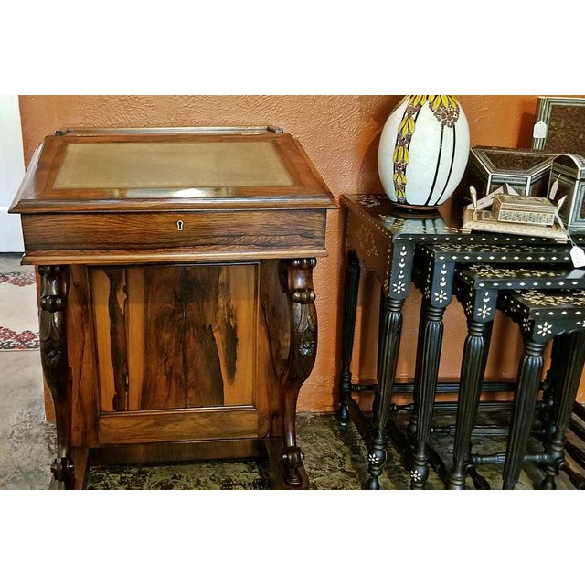Early 19c British Davenport Desk in the Manner of Gillows For Sale - Image 9 of 13