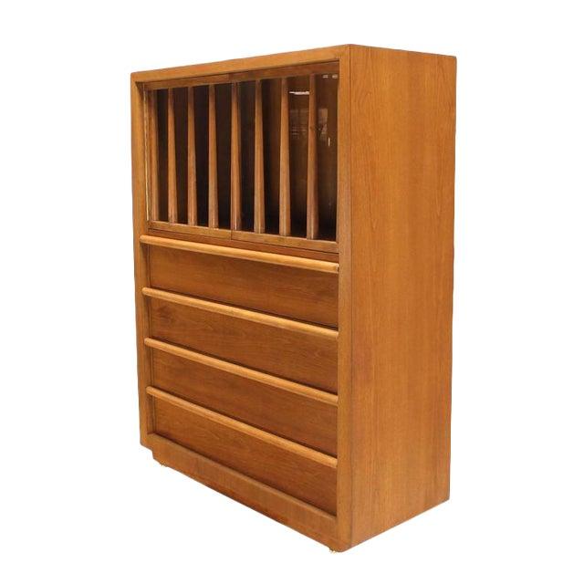Large Robsjohn-Gibbings Dresser Secretary w Bookcase For Sale