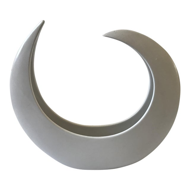 White Crescent Shaped Vessel - Image 1 of 8