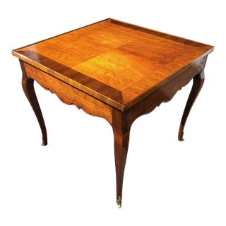 Parquet Top French Louis XV Side Table