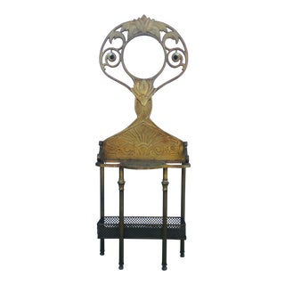 Metal Art Nouveau Style Umbrella Stand/Tree Hall For Sale