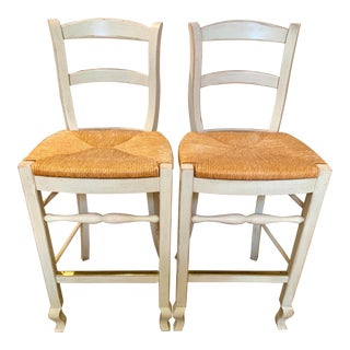 1990s Vintage Drexel Heritage Bar Stools- A Pair For Sale
