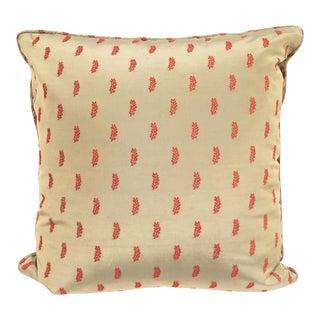 Blue Silk Toss Pillow For Sale