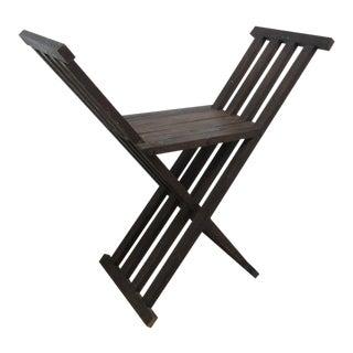 Vintage Campaign X-Base Folding Desk Chair For Sale