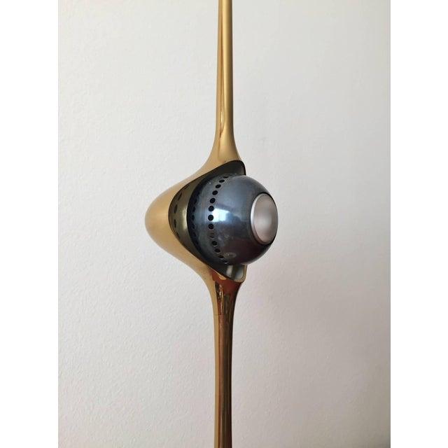 Aluminum Angelo Lelli Cobra Lamp for Arredoluce, in Brass, 1964 For Sale - Image 7 of 9