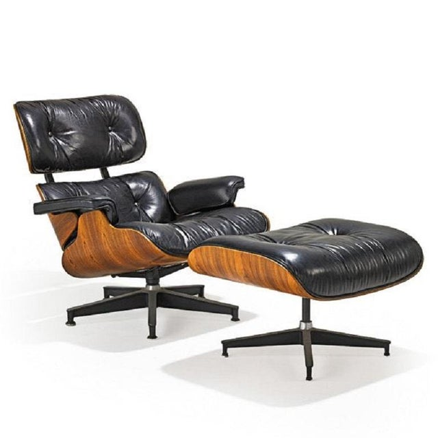 Herman Miller Charles and Ray Eames Lounge Chair (No. 670 and 671) For Sale - Image 4 of 4