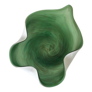 Emerald Green Murano Catchall Bowl
