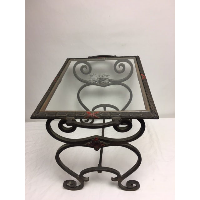Art Deco Iron Side Table - Image 5 of 11