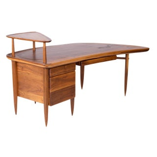 Allen Ditson Sculptural Walnut One-Off Desk For Sale